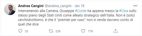 Andrea-Cangini-Forza-Italia-Tweet-Rapporti-Italia-Cina
