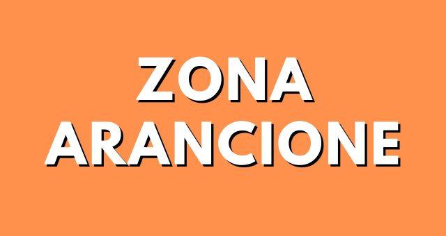 immagine con sfondo arancione con scritto zona arancione in bianco