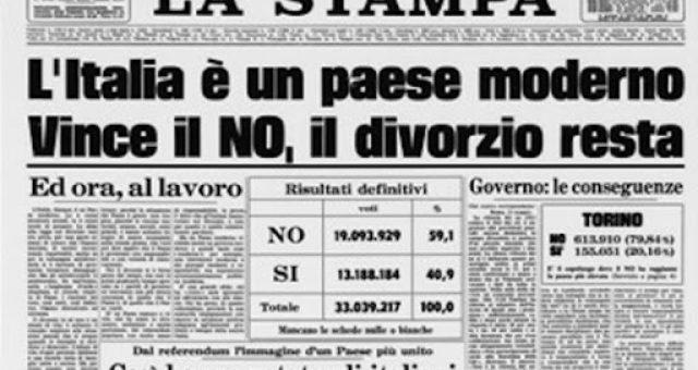 referendum sul divorzio del 13 maggio 1974
